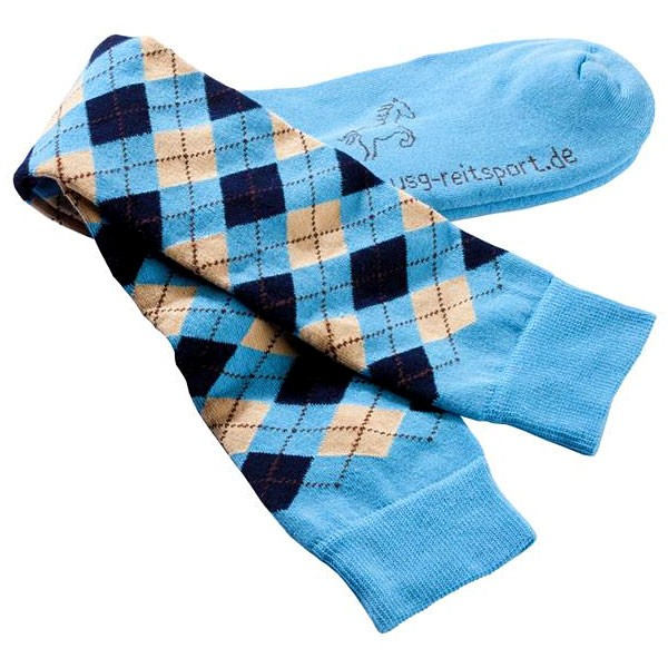 USG-Sokken-geruit-versterkt-mini-karo-blauw
