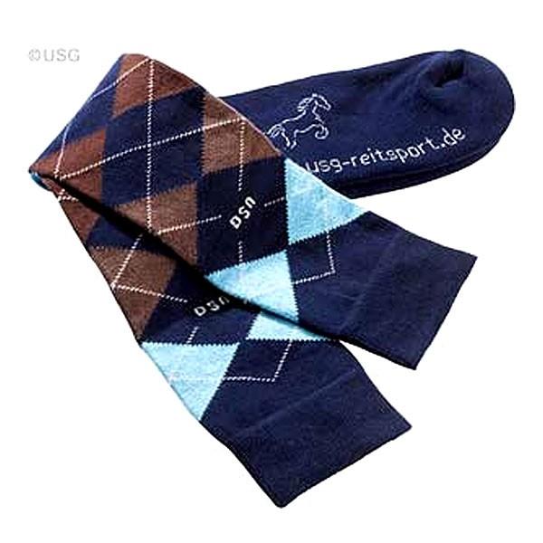 USG-Sokken-geruit-navy-blauw